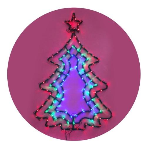 arbol de navidad plano led