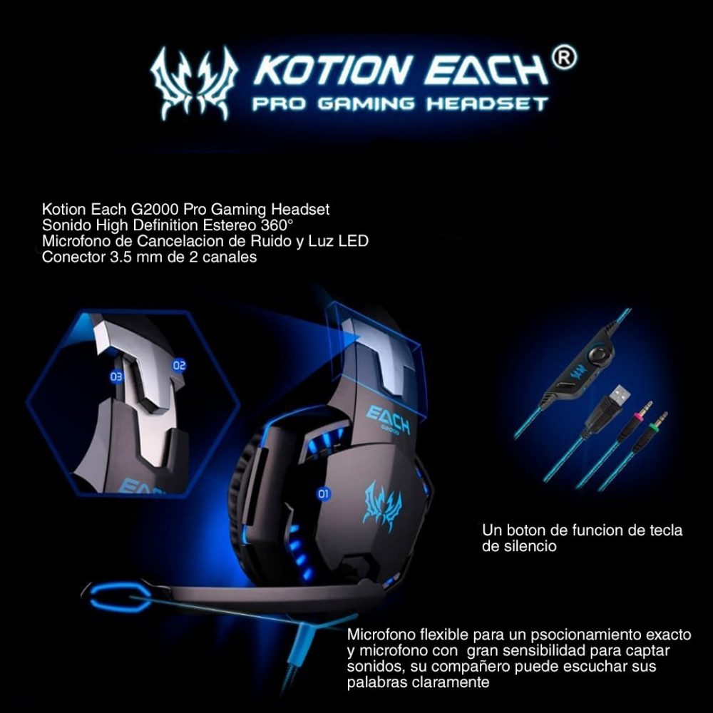 auriculares kotion each G2000 2