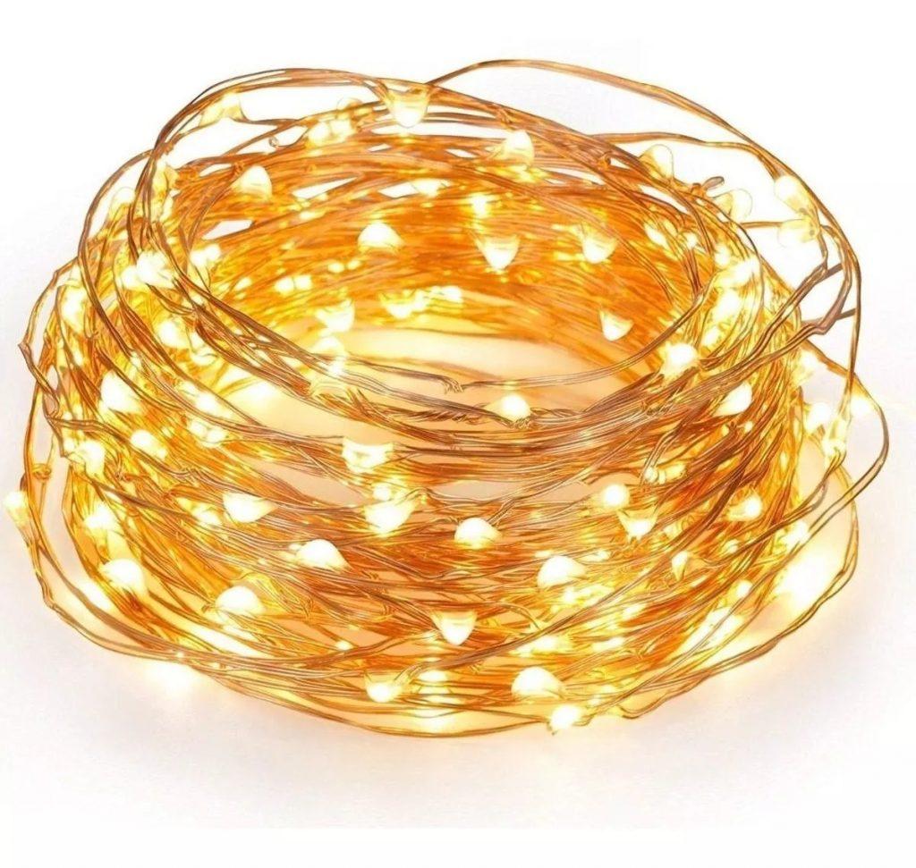 cable hilo alambre luz led calida 3 mts a pilas D NQ NP 716168 MLA31114254179 062019 F