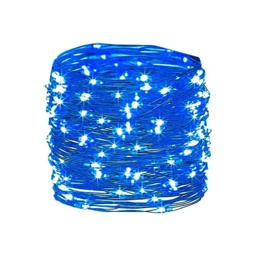 guirnalda 100 luces led azul