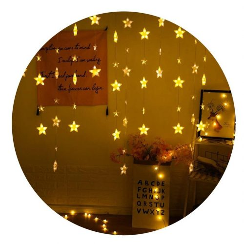 cortina guirnalda led estrellas