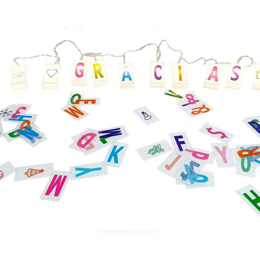 guirnalda box letras numeros 2