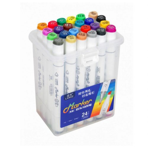 marcadores 24 unidades doble punta