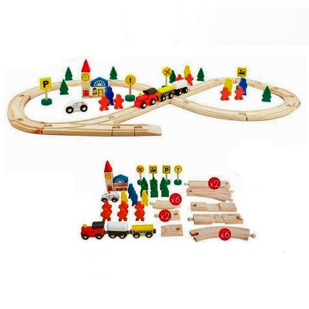 pista de tren madera cubeta 2