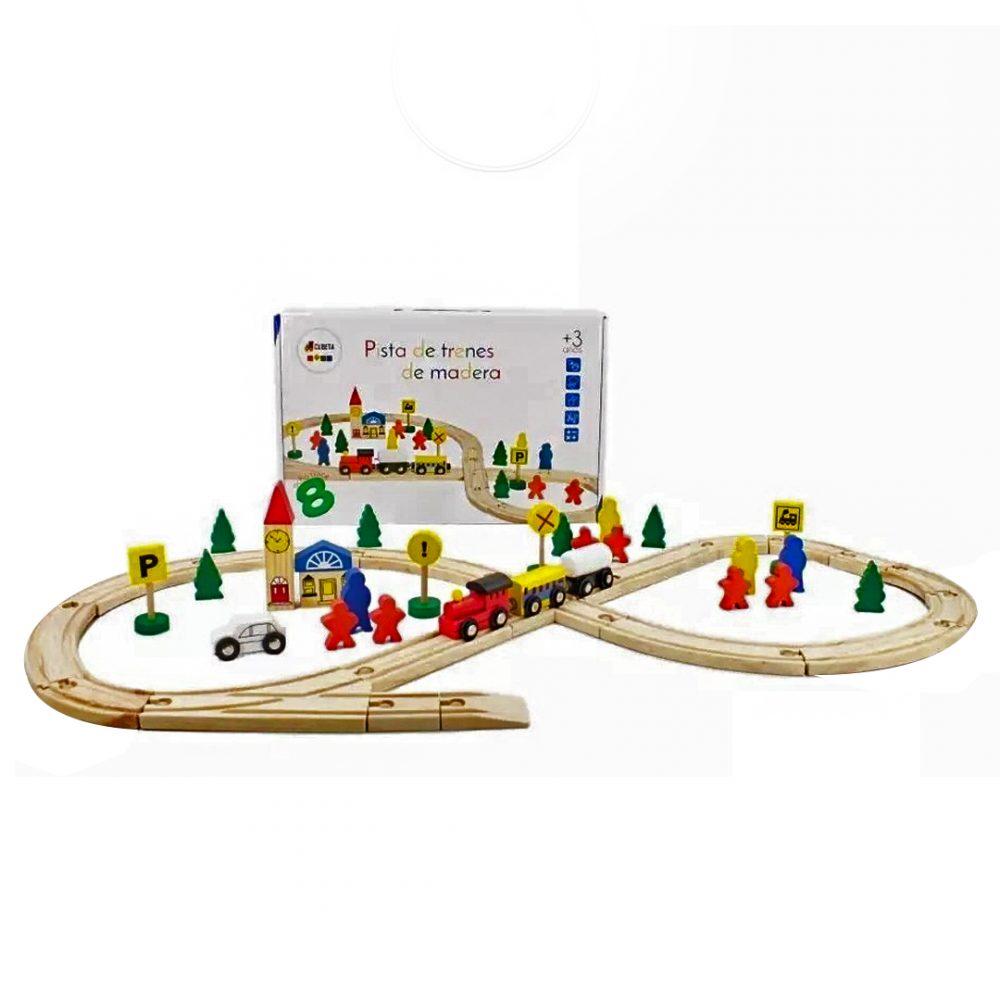 pista de tren madera cubeta 3