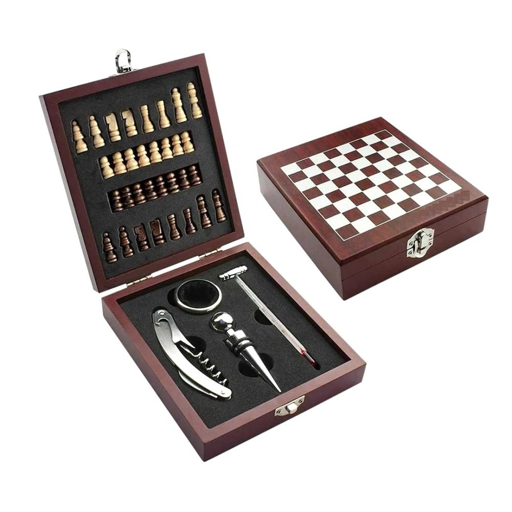 set vino ajedrez 1