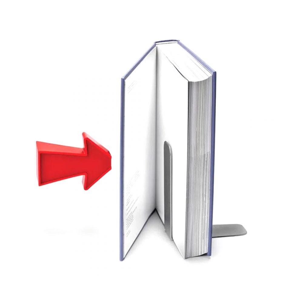 sujeta libros flecha iman 3