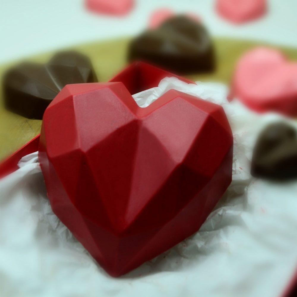 molde corazon cristal 5