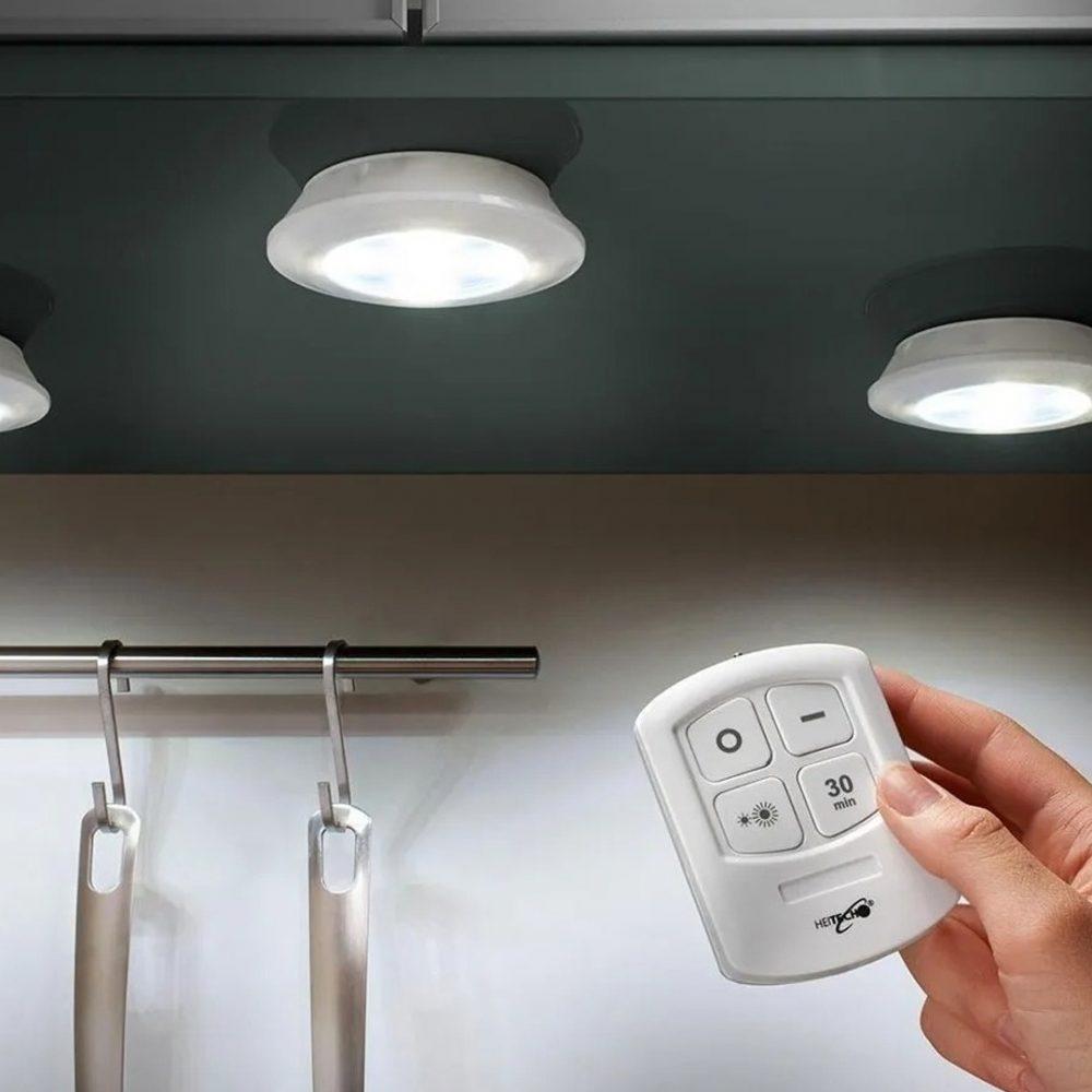 set 3 luces led control 3