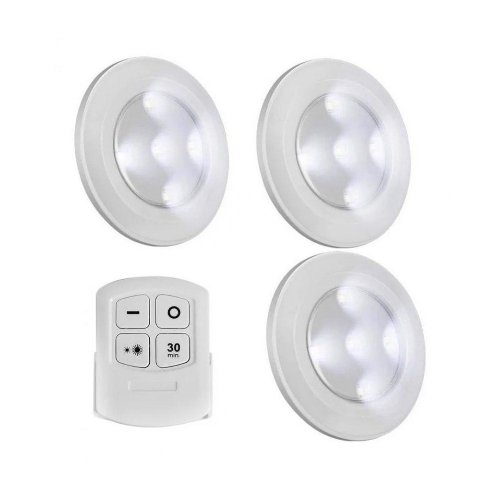 set 3 luces led control 4