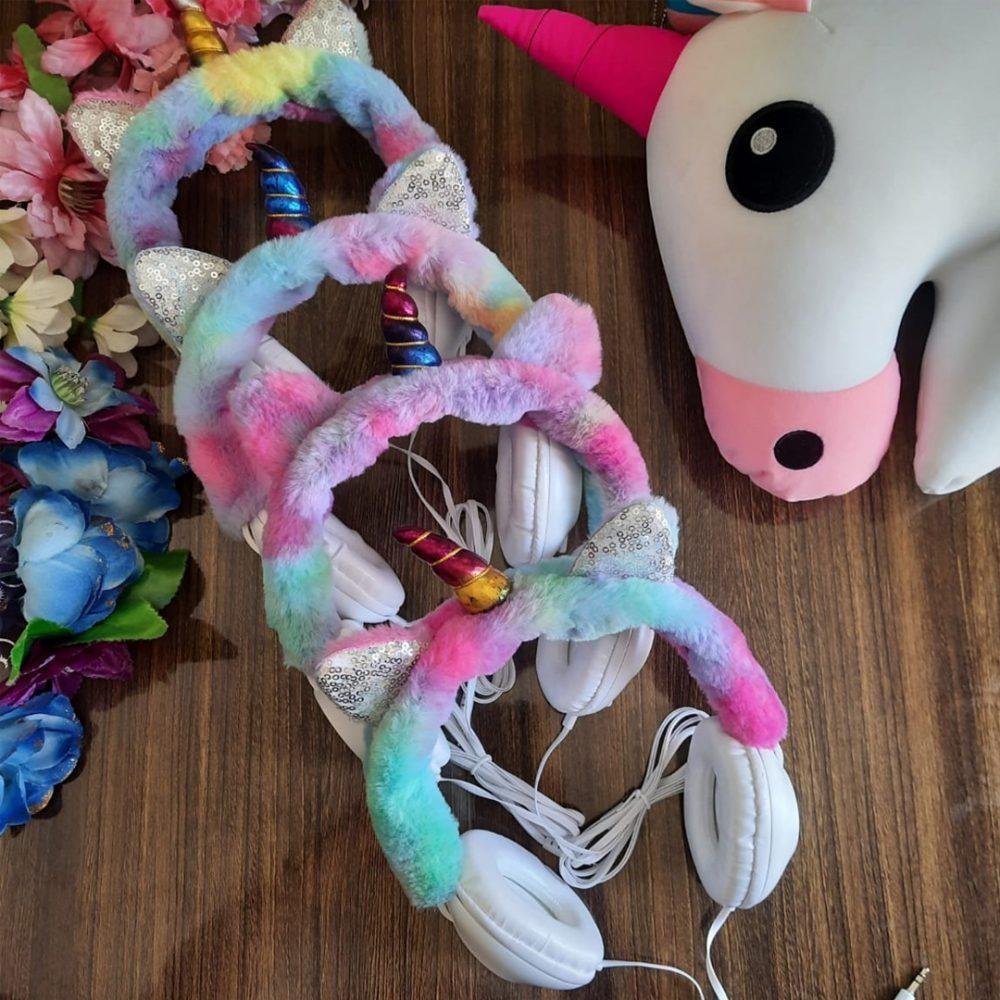 auricular peluche unicornio 4