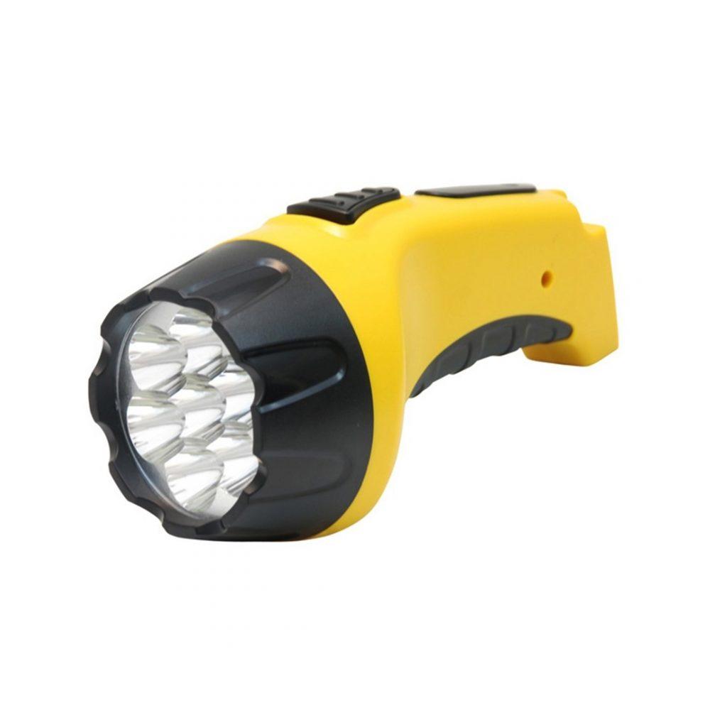 linterna 7 leds recargable amarilla 3