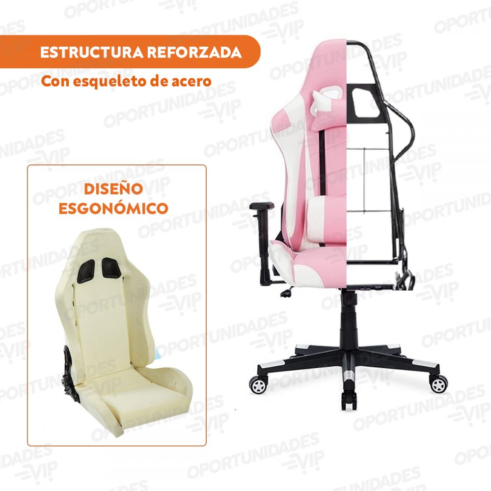 silla gamer rosa 1