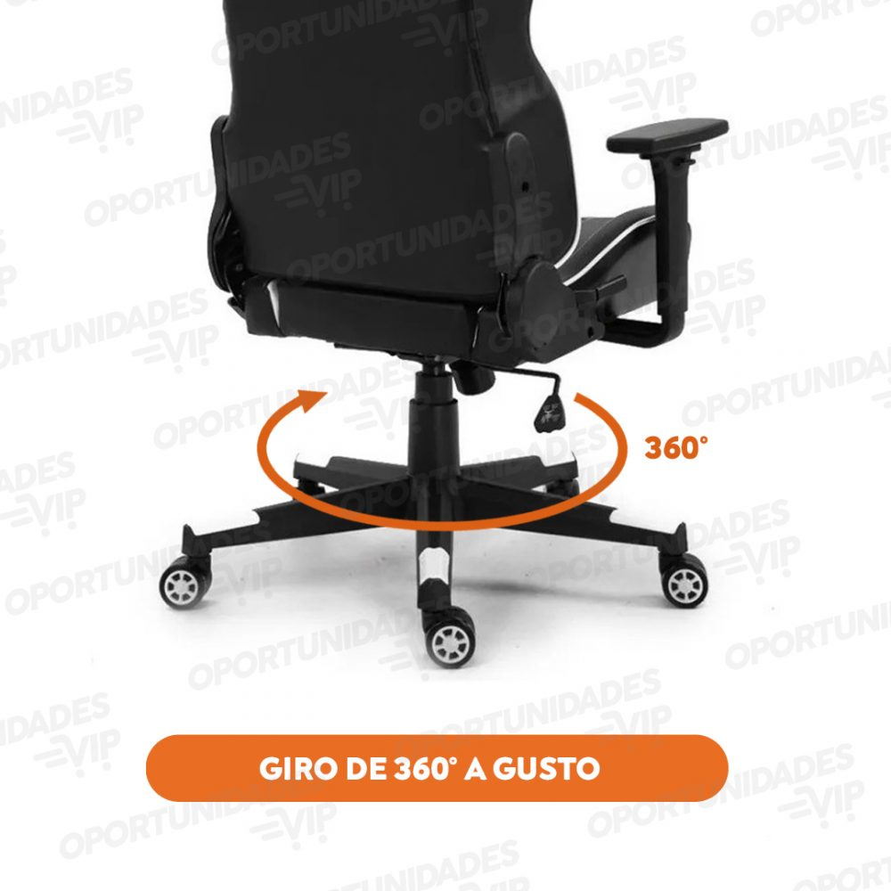 silla gamer ajhh blanco rojo 3