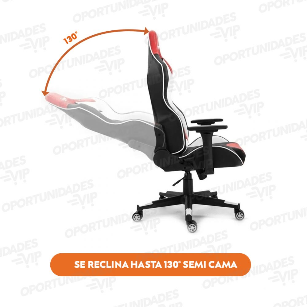 silla gamer ajhh blanco rojo 4