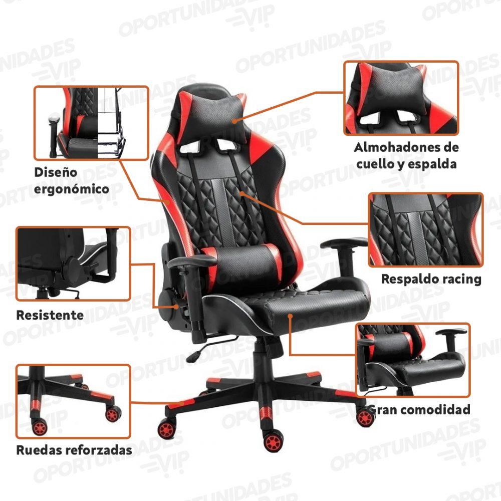 silla gamer ajhh negrao y rojo 6 1