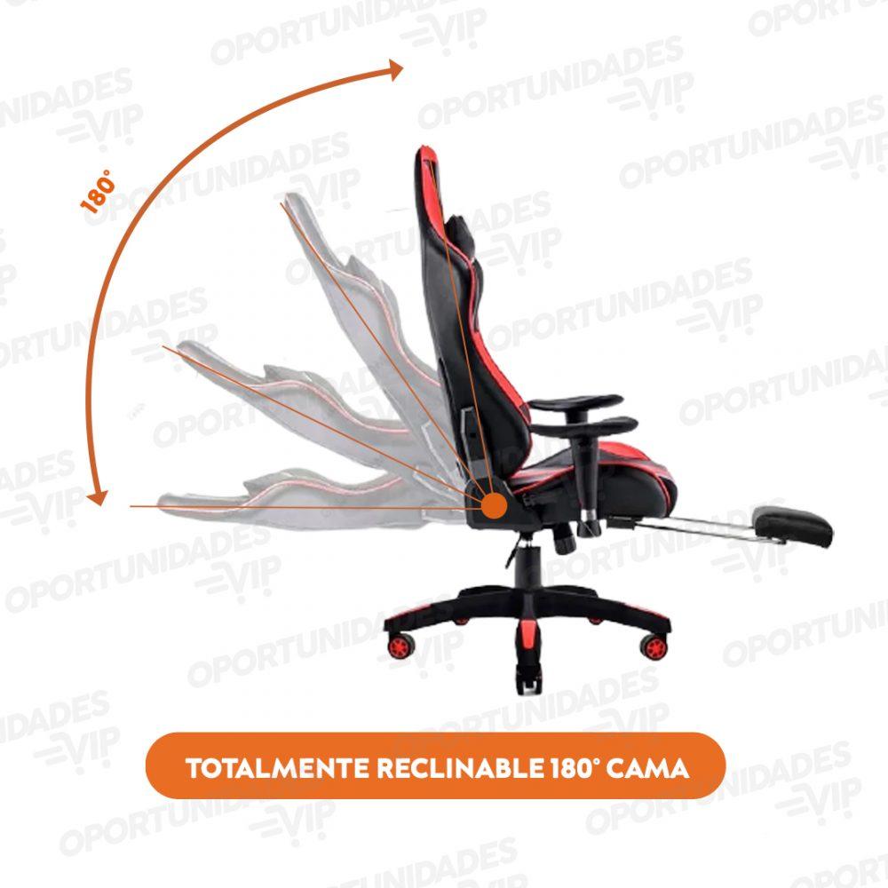 silla gamer fur gt000 rojo 1