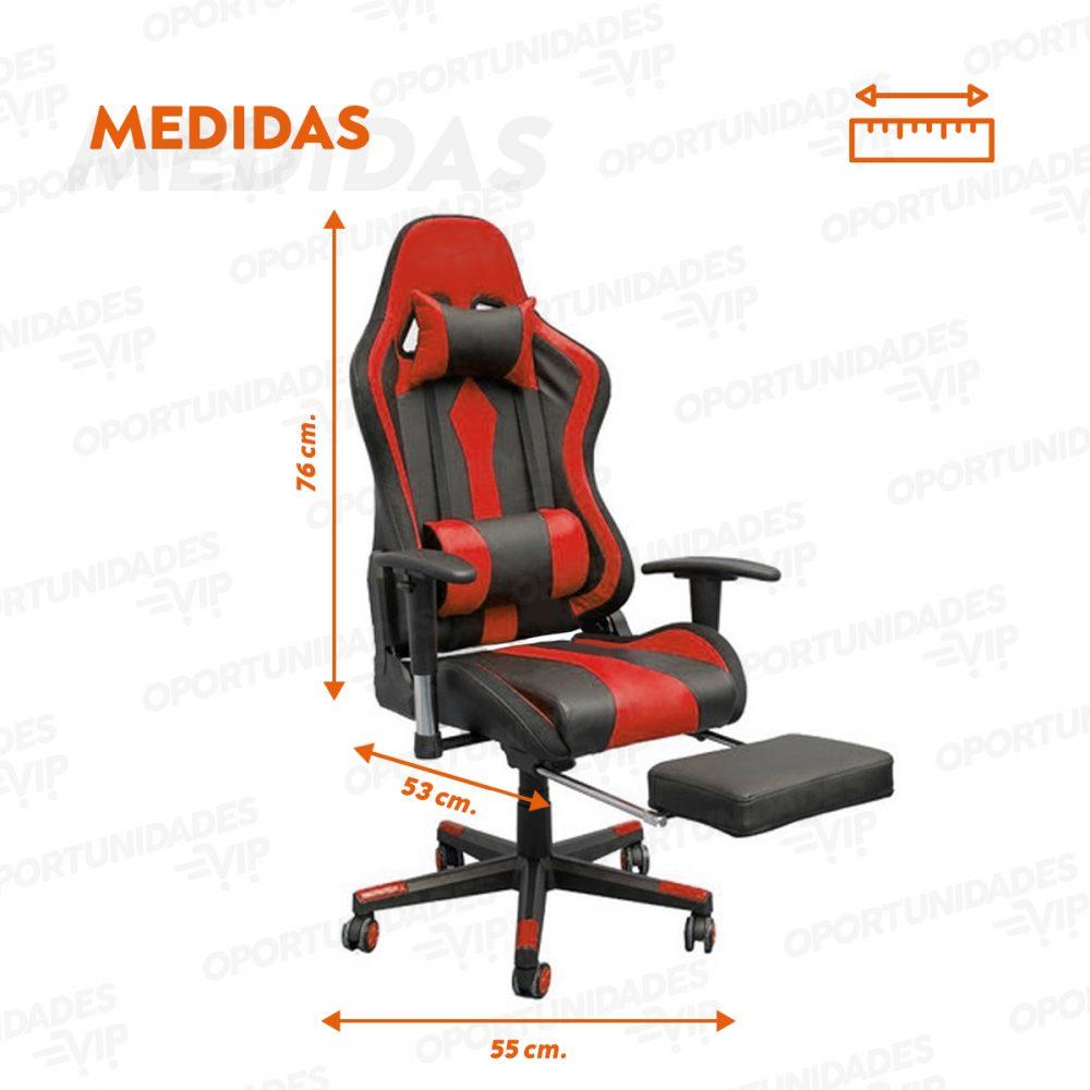 silla gamer fur gt000 rojo 3