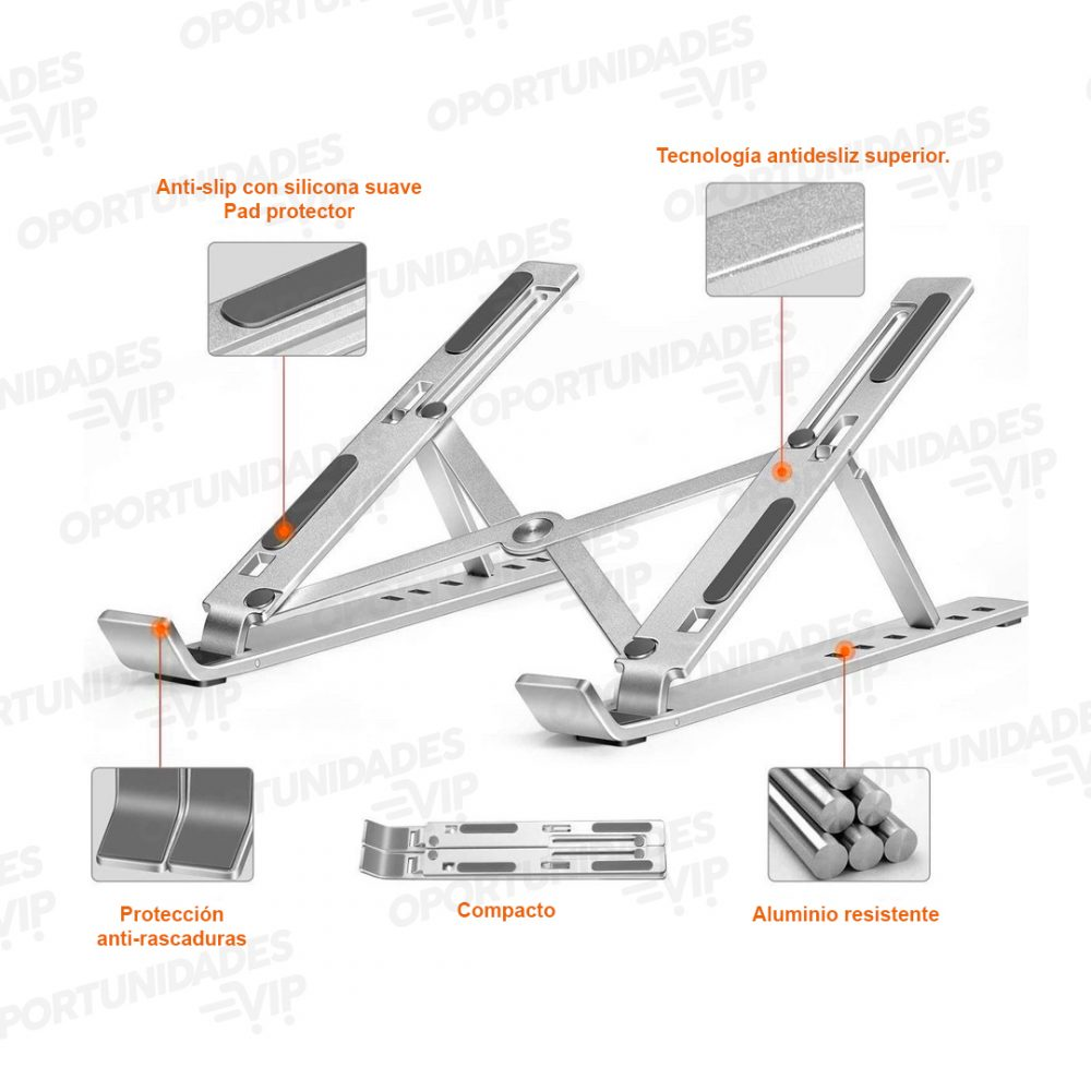 soporte notebook aluminio plegable 2